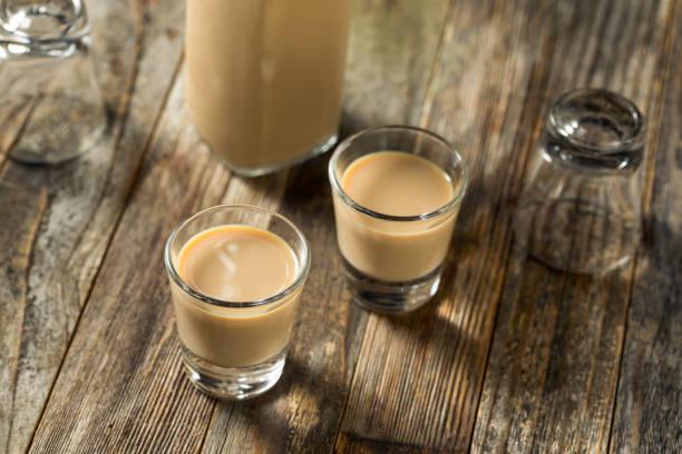 Homemade Sweet Irish Cream Liquor stock photo