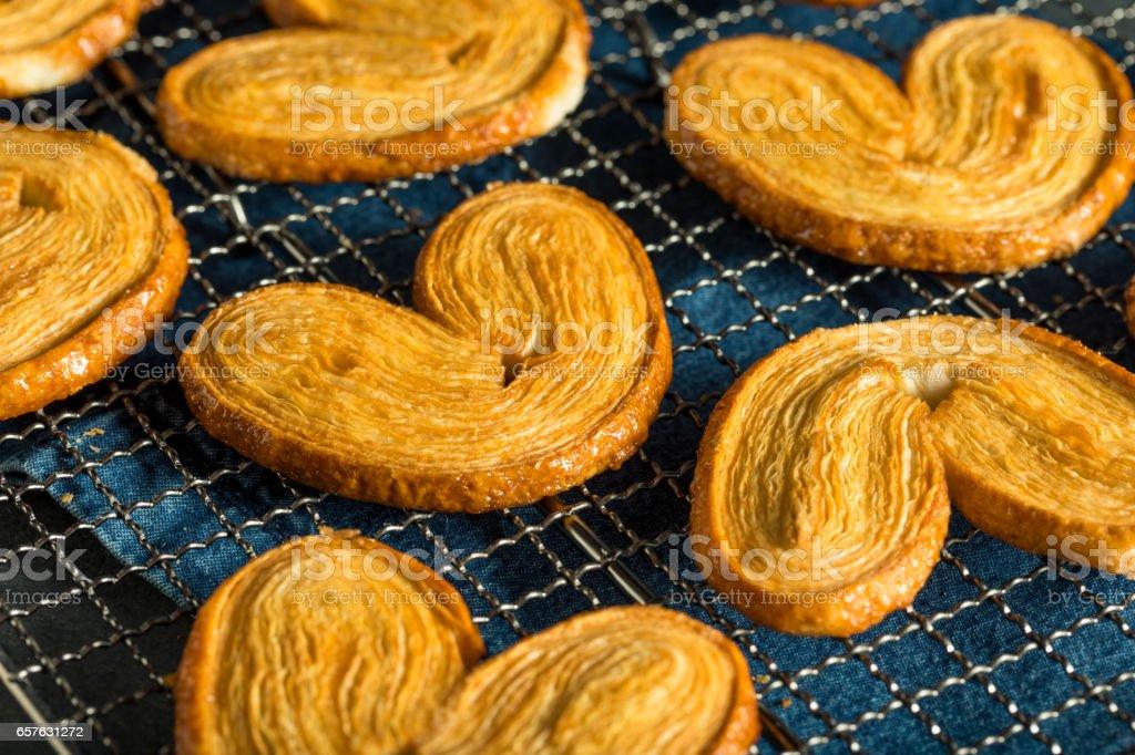 Homemade Sweet Palmier Cookies stock photo