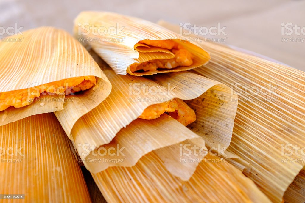 homemade tamales stock photo