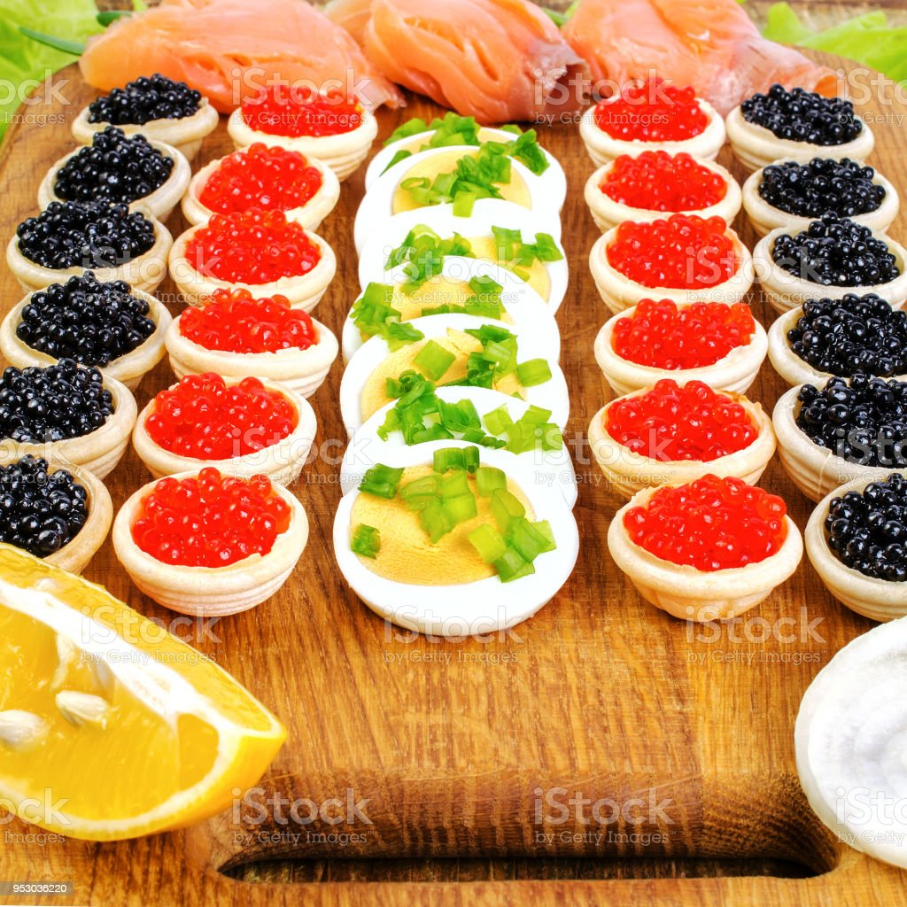 Tartlets with caviar. How to cook tartlets with red caviar 11