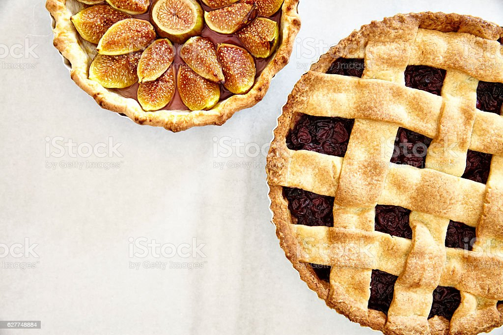 Homemade tarts stock photo