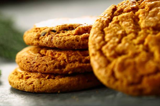 hausgemachte leckere plätzchen. - low carb kekse stock-fotos und bilder