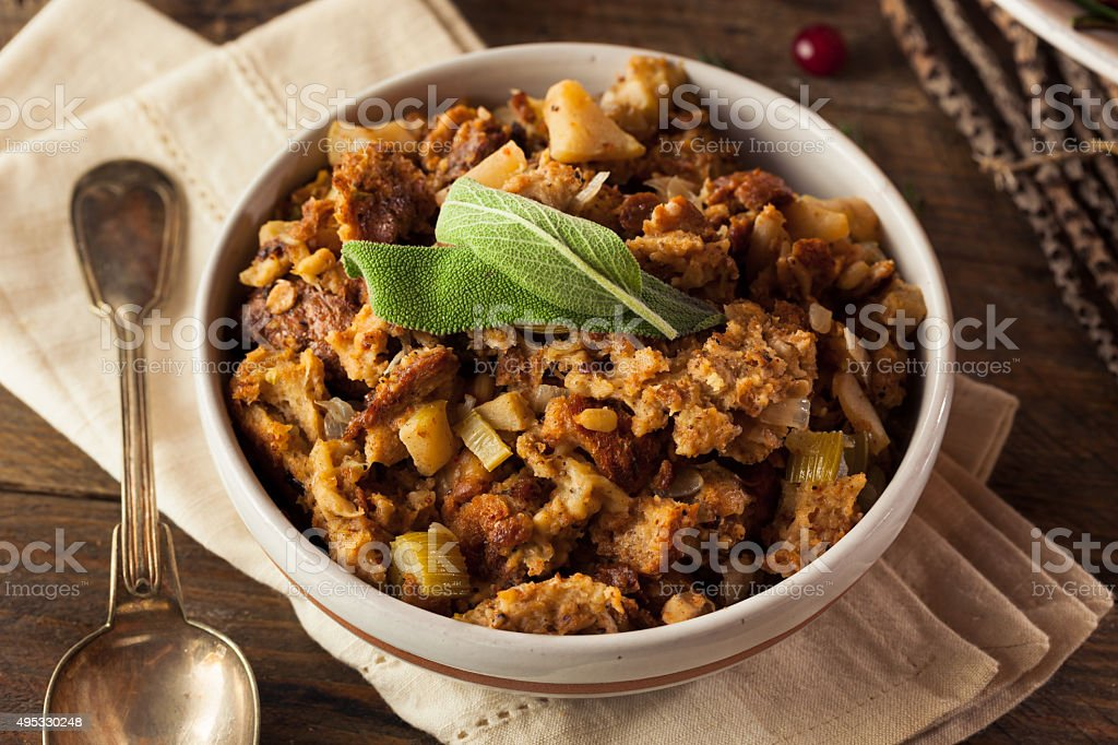 Homemade Thanksgiving Day Stuffing royalty-free stock photo