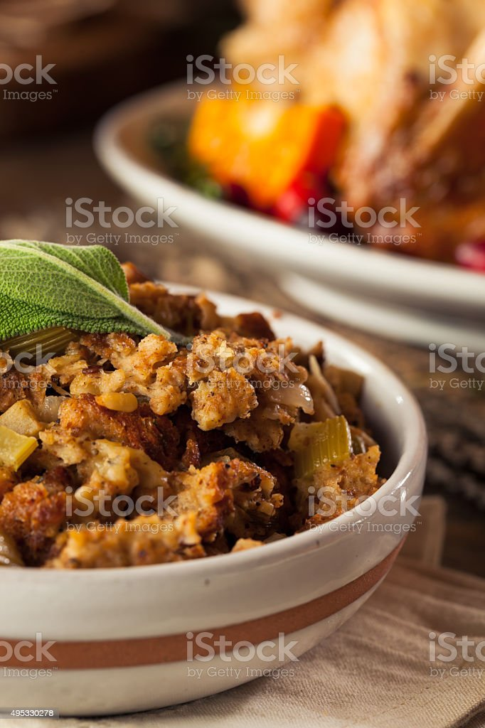 Homemade Thanksgiving Day Stuffing stock photo
