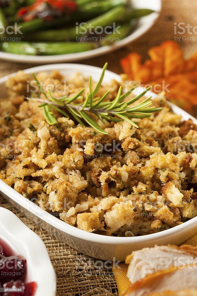 Homemade Thanksgiving Stuffing stock photo