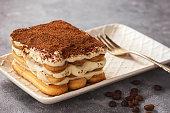 自家製ティラミス ケーキ、イタリアのデザート。