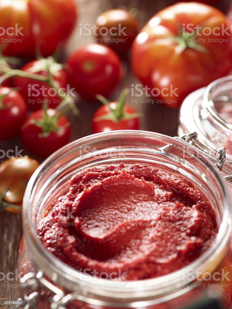 Homemade tomato paste stock photo