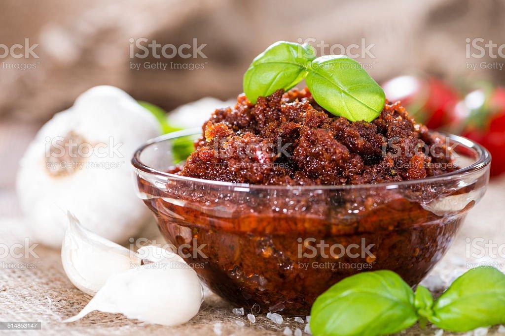 Homemade Tomato Pesto stock photo