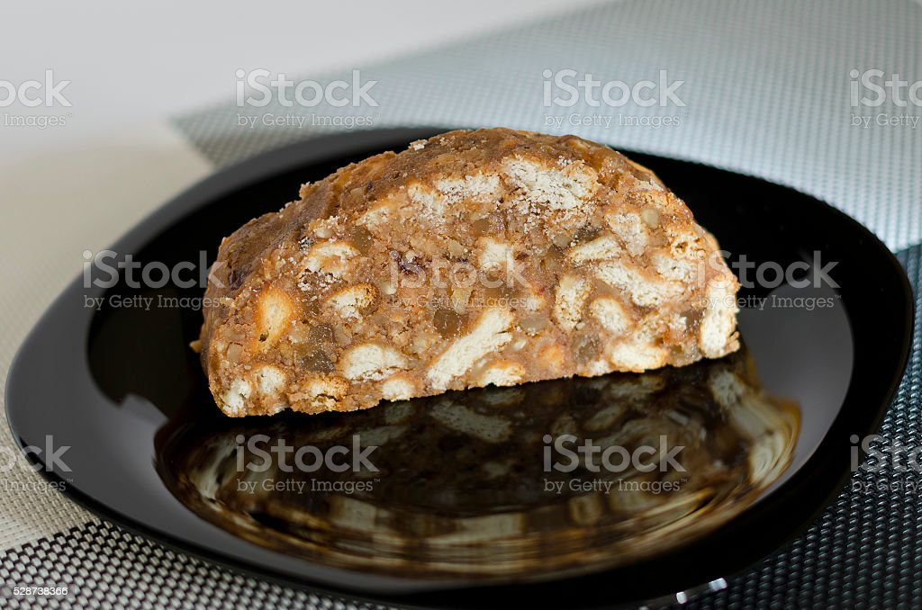 Homemade traditional cake dessert, selective focus stock photo