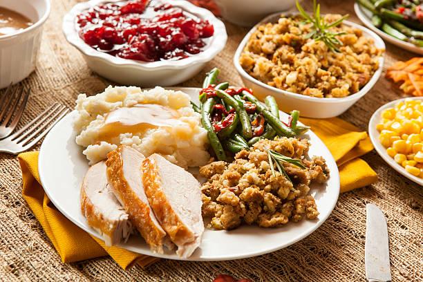 Caseira Turquia jantar de Ação de Graças - foto de acervo