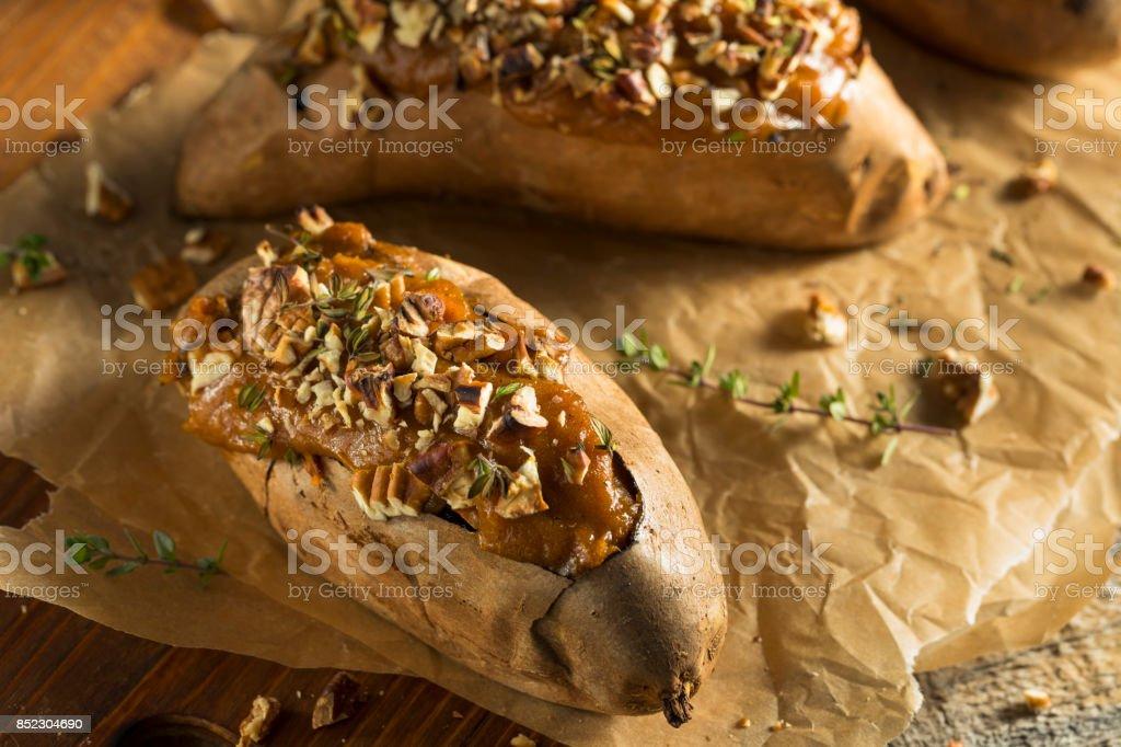 Batata-doce caseiro cozido duas vezes - foto de acervo