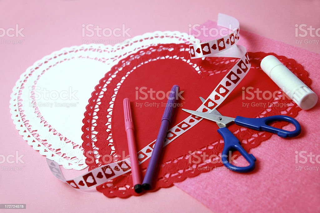 Homemade Valentines royalty-free stock photo