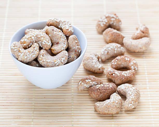 Homemade vegan cookies stock photo