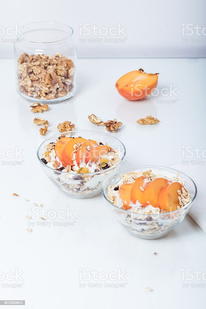 Homemade vegan granola cereal with soy yogurt walnuts fuji app stock homemade vegan granola cereal with soy yogurt walnuts fuji app royalty free stock ccuart Gallery