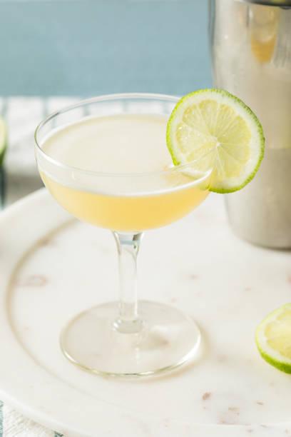 Homemade Vokda Gimlet Cocktail stock photo