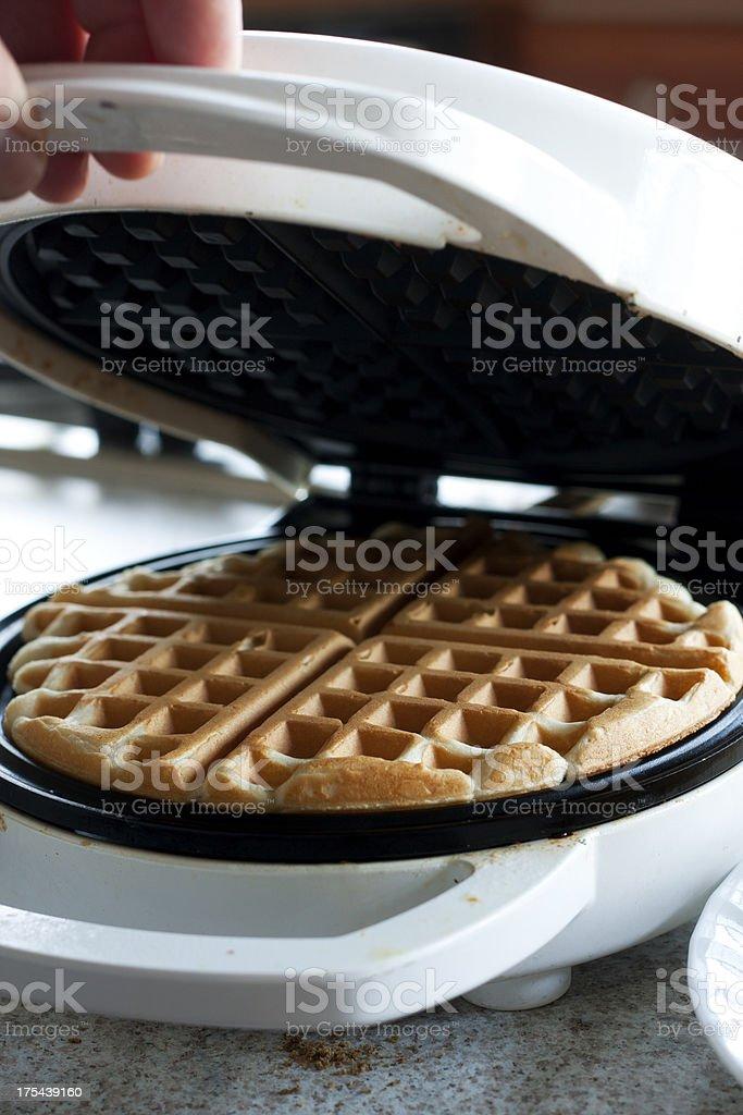 Homemade Waffle stock photo
