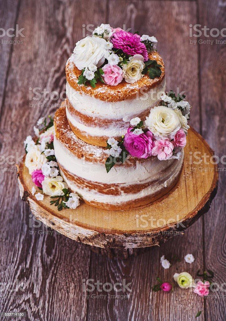 nu bolo caseiro de casamento - foto de acervo