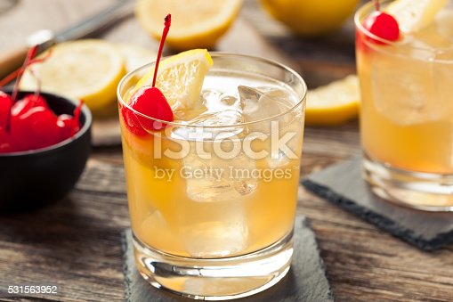 istock Homemade Whiskey Sour Cocktail Drink 531563952