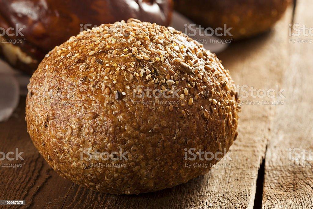 Homemade Whole Grain Dinner Rolls stock photo
