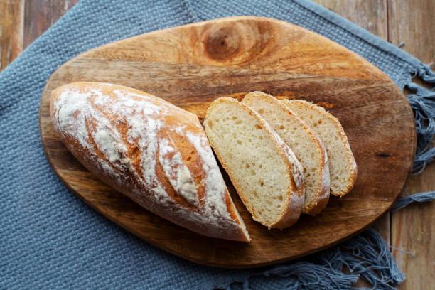 homemade wholegrain bread slices stock photo