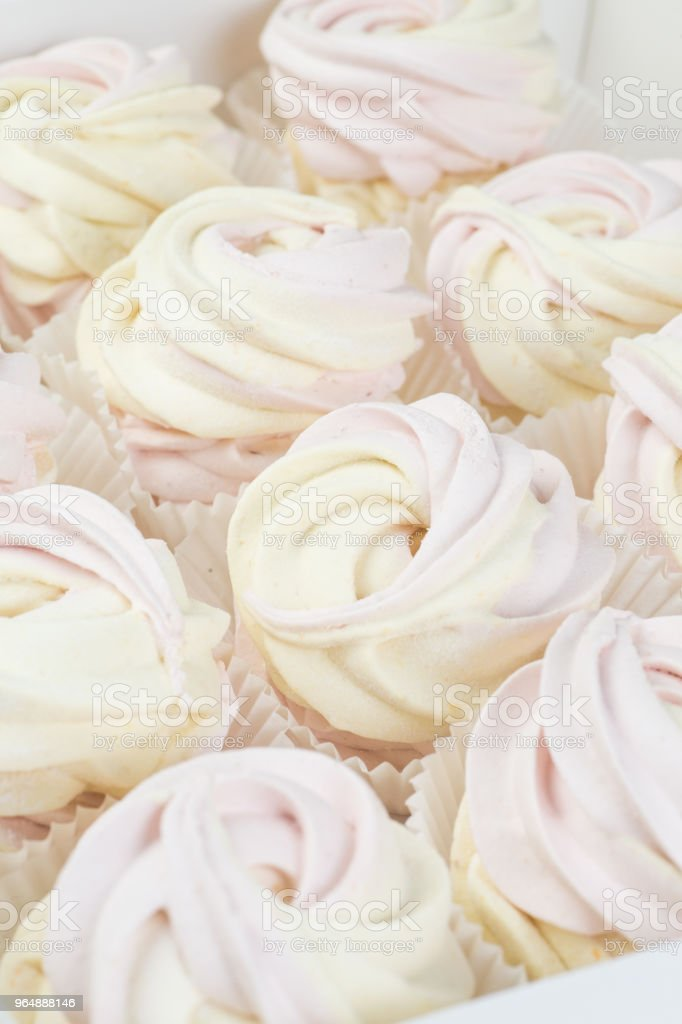 Homemade zephyr or marshmallow royalty-free stock photo