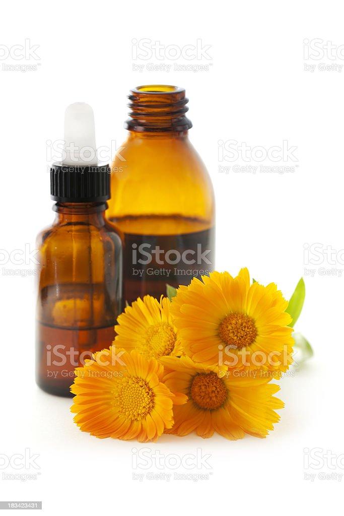 Homeopathic Medicine: Calendula Officinalis Tincture royalty-free stock photo