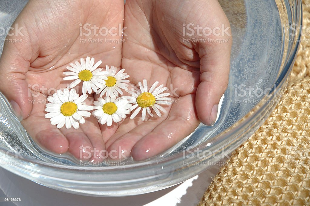 Homeopathic medicine, hands royalty-free stock photo