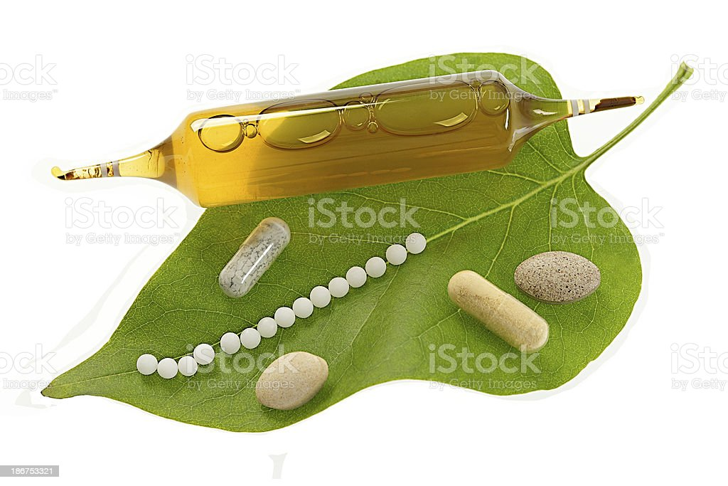 Homeopathy .Granules and Natural Medicine  Drugs & Derivatives royalty-free stock photo