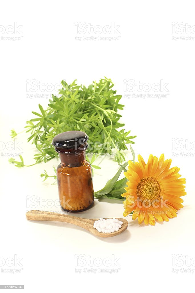 Homeopathy with marigold royalty-free stock photo