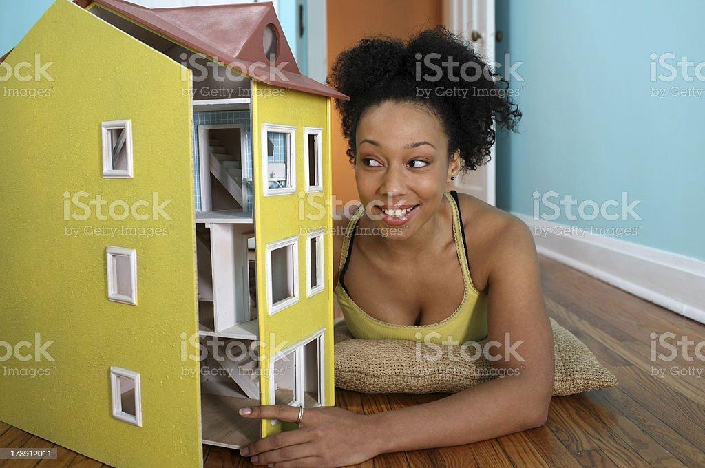 Homeowner dreams royalty-free stock photo