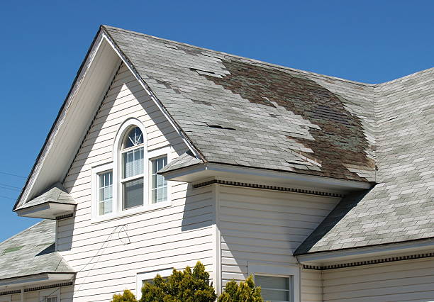 homeowner roof repair - storm stock photos and pictures