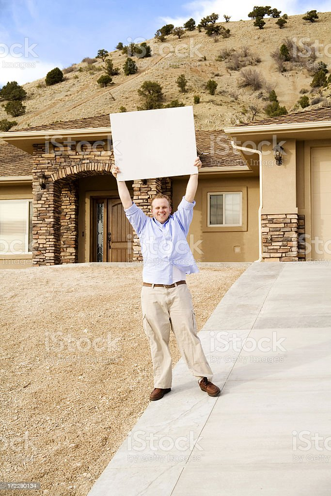 Homeowner with A Message royalty-free stock photo