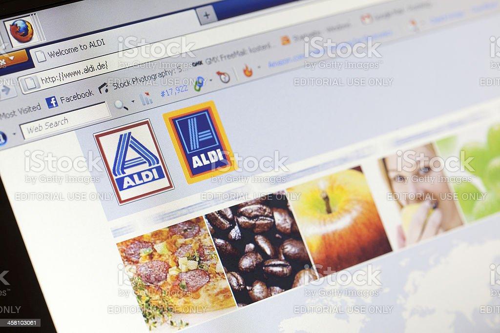 Página de inicio de alemán discounter Aldi venta - foto de stock