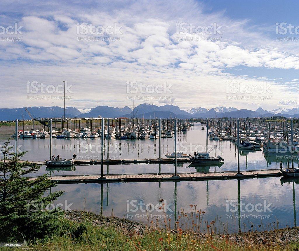 Homer Boat Harbor, Alaska stock photo