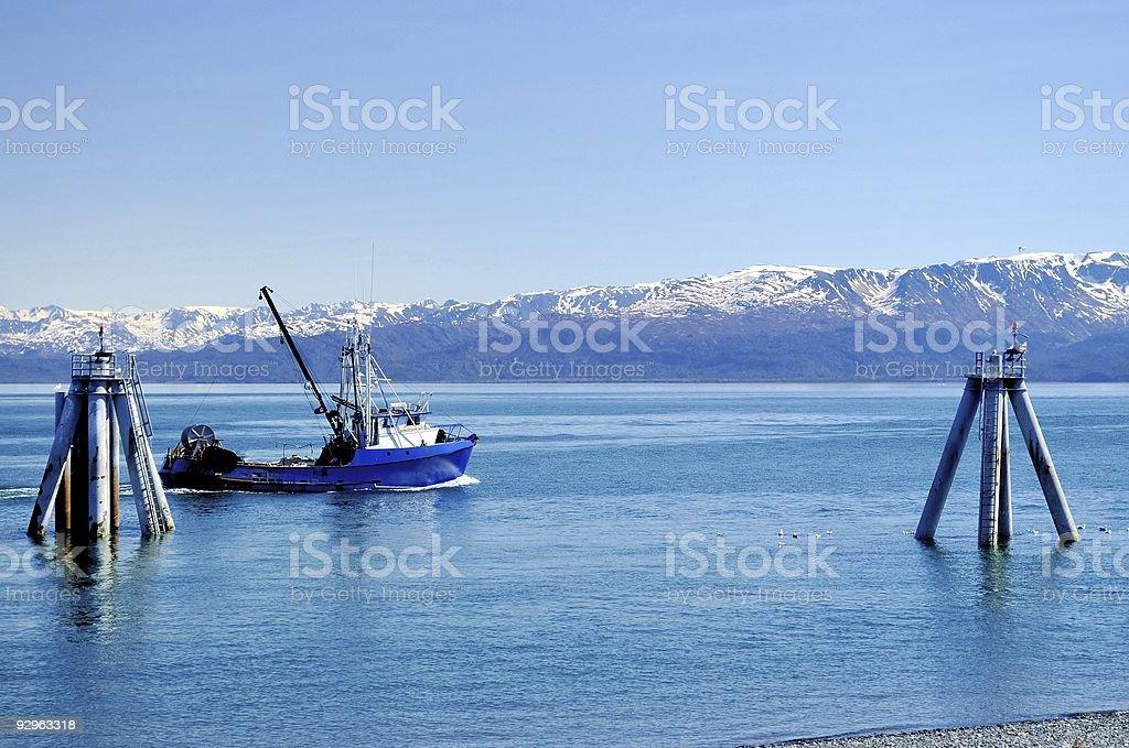 Homer Fishing Trawler stock photo