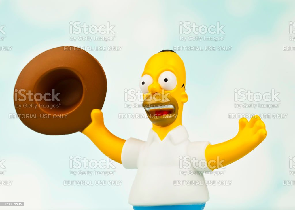 Homer Simpson with Cowboy Hat stock photo