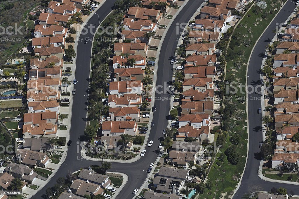 Homes Aerial View royalty-free stock photo