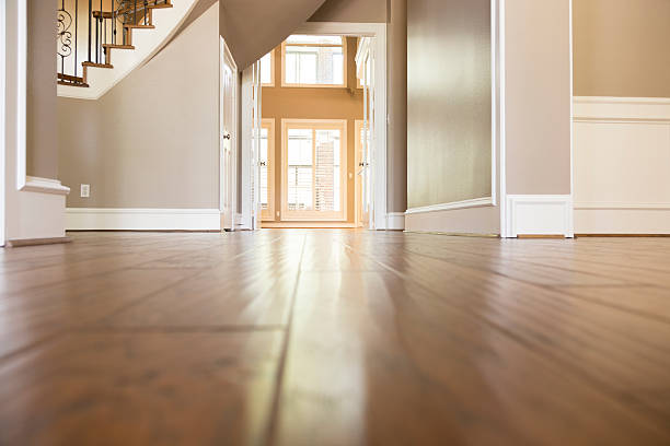 homes and architecture:  lovely wooden flooring in home. - grodperspektiv bildbanksfoton och bilder