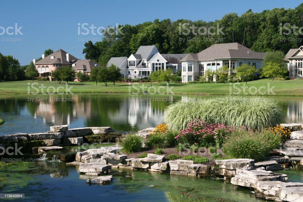 Homes At The Lake 1 royalty-free stock photo