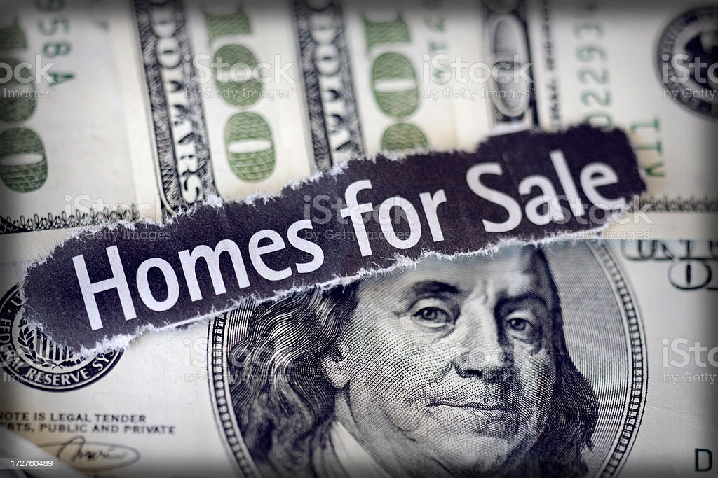 homes for sale royalty-free stock photo