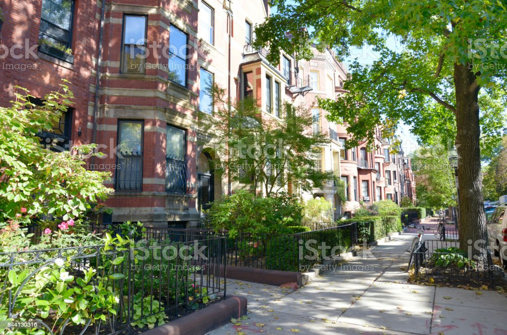 Homes in a Street stock photo