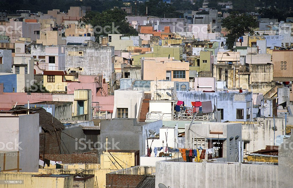Homes in Madurai stock photo