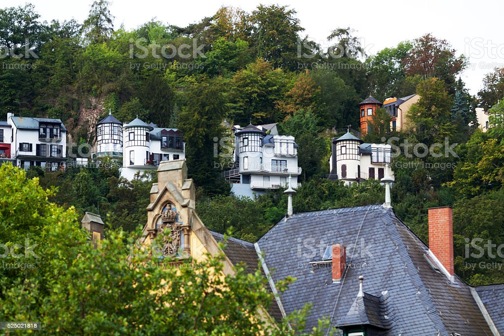 Homes in St. Goar stock photo