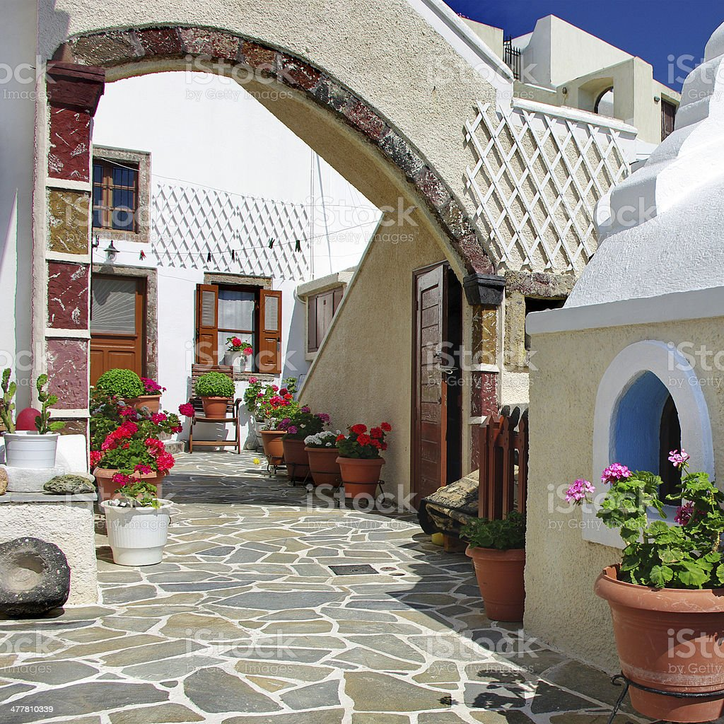 homes of Santorini royalty-free stock photo
