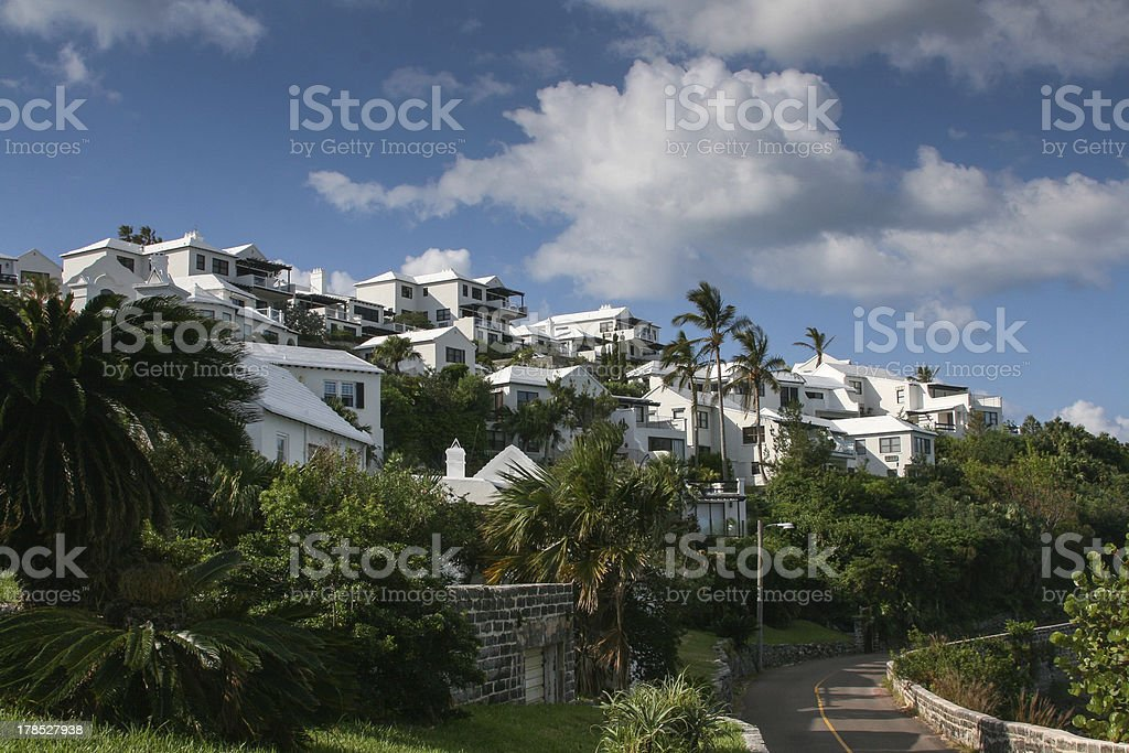 Homes on a Hillside royalty-free stock photo