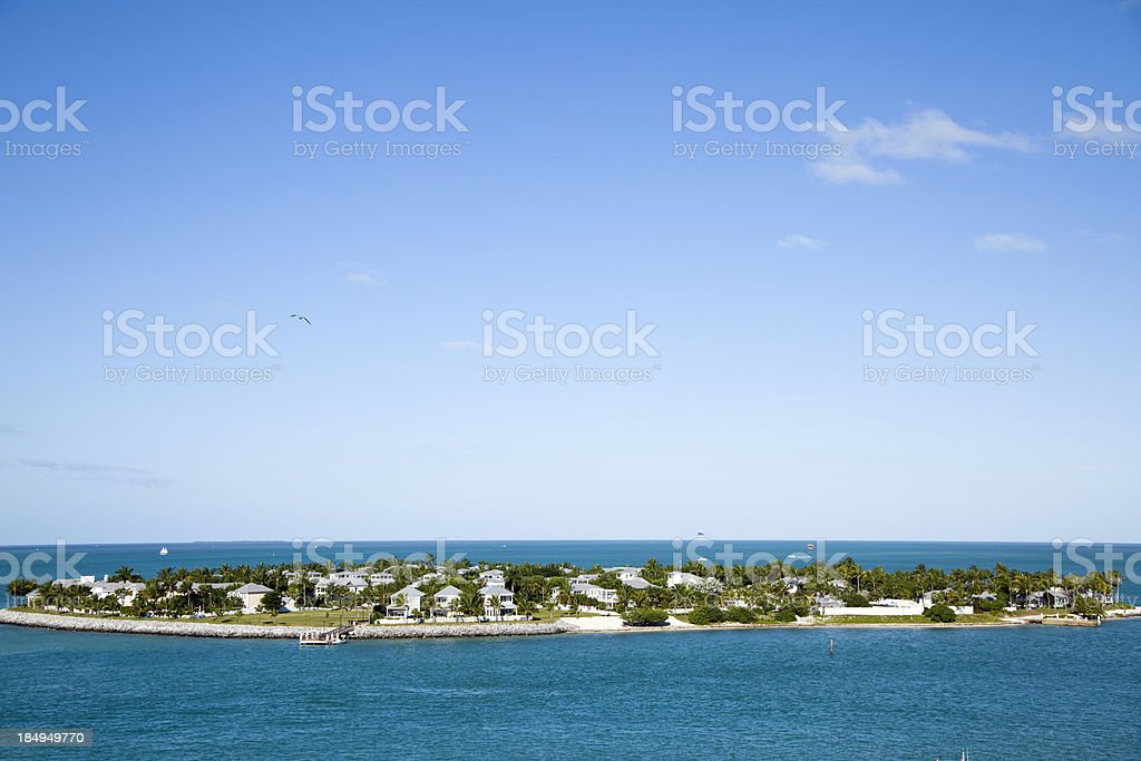 Homes on Island in Key West Florida royalty-free stock photo