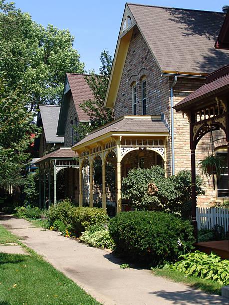 Homes on Milwaukee Avenue stock photo