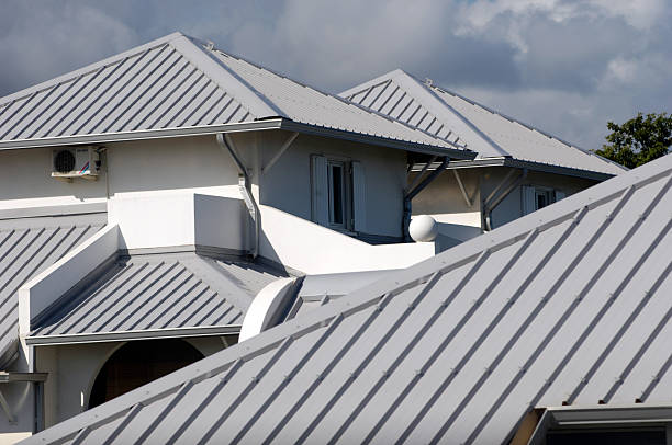 home's roof  sheet metal stock pictures, royalty-free photos & images