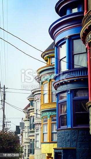 Homes, Haight Ashbury, San Francisco, USA.