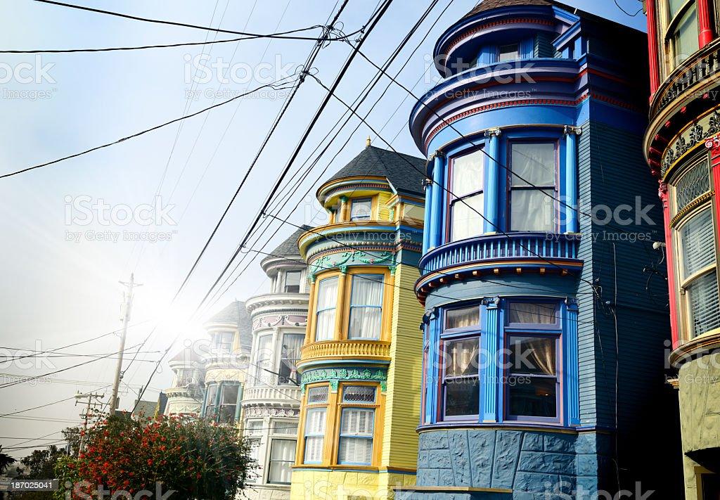 Homes, San Francisco. stock photo